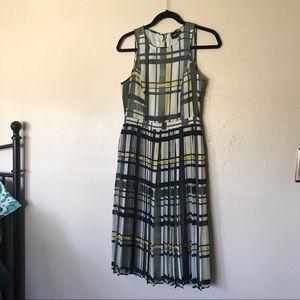 ASOS plaid pleated dress